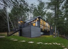 Cross Laminated Timber Cottage by Kariouk Associates