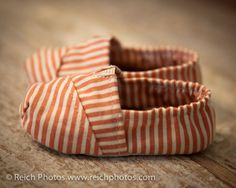 Fitted Baby shoes in a Beachy Stripe by Scarlettos  for Etsy. $22.00, via Etsy.