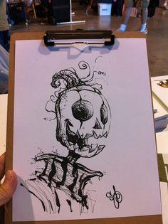 Artwork by Skottie Young Pen Illustration, Ink Illustrations, Art Sketches, Art Drawings, Young Art, Skottie Young, Comic Artist, Cartoon Art, Amazing Art