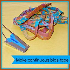 Have fun making continuous bias binding! How to turn a square of fabric into a big pile of continuous bias tape without any fiddly sewing strips together. And how to use the bias tape maker tool Quilting Tips, Quilting Tutorials, Sewing Tutorials, Sewing Projects, Tutorial Sewing, Dress Tutorials, Quilting Projects, Sewing Ideas, Quilt Binding Tutorial