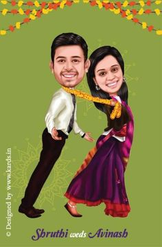 A Tanu weds Manu Style caricature invitation for a funny couple :-) Wedding Invite Wording Funny, Indian Wedding Invitation Cards, Funny Wedding Cards, Creative Wedding Invitations, Engagement Invitations, Wedding Humor, Wedding Pics, Wedding Couples, Trendy Wedding