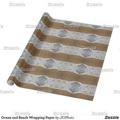 Shop Ocean and Beach Wrapping Paper created by JFJPhoto. Custom Wrapping Paper, My Design, Wraps, It Is Finished, Gift Wrapping, Ocean, Beach, How To Make, Prints