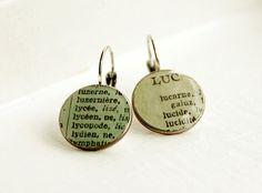 Recycled Coin Earrings by 7deBloomsbury on Etsy