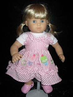 Ice Cream Dress With White T-Shirt for American Girl Bitty BABY $15.00