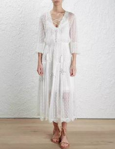 >> Click to Buy << Luxury Dress Designers 2017 summer women's clothing catwalk show lace spell silk dress white #Affiliate