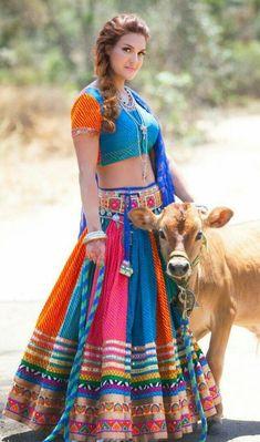 Designer Lehengas Choli and ghagra choli on sale at vivahfashion shop online latest collections lehengas designs in various styles colors patterns in India Lehenga Choli, Bollywood Lehenga, Garba Dress, Navratri Dress, Garba Dance, Indian Attire, Indian Outfits, Chaniya Choli Designer, South Indian Blouse Designs