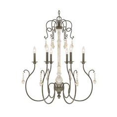Capital Lighting 410362 Vineyard 6 Light 1 Tier Chandelier French ($418) ❤ liked on Polyvore featuring home, lighting, ceiling lights, chandeliers, french country, indoor lighting, outside lamps, outdoor hanging lights, outdoor lighting and outdoor hanging lamp