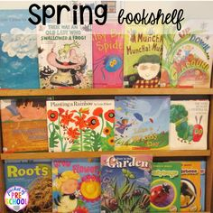 Spring picture books plus Plant Needs and Life Cycle Posters FREEBIE. Prefect for preschool and kindergarten.