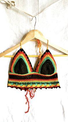Crochet top bikini rasta summer top cotton by poppyblue.tictail.com Summertops…