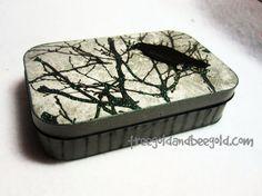 Gothic Raven Altered Tin by TreegoldandBeegold on Etsy, $10.00 via @Velody