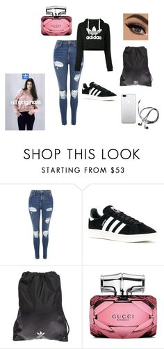 """""""Adidas"""" by nikus10030 on Polyvore featuring Topshop, adidas, adidas Originals and Gucci"""