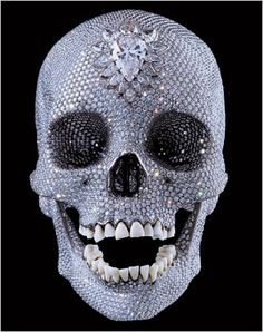 The Diamond Skull of Damien Hirst- When I have a house of my own I will decorate with stuff like this for Halloween :D