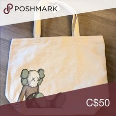 Shop Women's Kaws Cream size OS Bags at a discounted price at Poshmark. Description: NWT RARE KAWS x UNIQLO Tote Bag. Sold out in stores. Will not be reproduced. Sold by Fast delivery, full service customer support. Uniqlo, Reusable Tote Bags, Closet, Things To Sell, Armoire, Closets, Cupboard, Wardrobes, Closet Built Ins