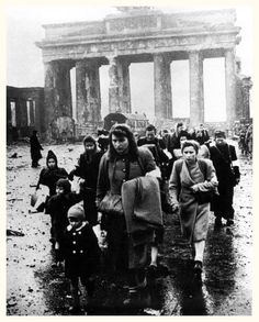 Brandenburg Gate, Berlin, Germany in 1945.