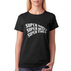 Tee kanonslag Super mor kvinder sort T-shirt   Fruugo