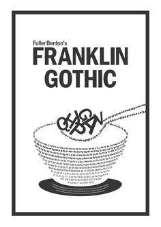 35 Best Franklin Gothic images in 2016 | Gothic, Typography