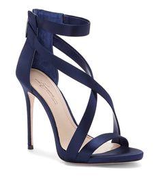 Shop for Imagine Vince Camuto Devin High Heel Sati Blue Sandals Heels, Blue Stilettos, Strappy Sandals Heels, Dress Sandals, Dress Shoes, Blue Shoes, Shoes Heels, Navy Blue Heels, Blue High Heels