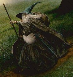 Gandalf by John Howe... one of my favorite pieces of lord of the rings artwork.