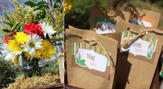 gift bag - brown bag with twine and tag