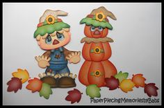 Fall has got to be the most beautiful time of year with the changing leaves, pumpkins, apples, and Halloween. Probably one of the most popu. Scrapbook Images, Scrapbook Cards, Scrapbooking Ideas, Wedding Scrapbook, Baby Scrapbook, Paper Piecing, Make A Scarecrow, Fall Wood Crafts, Fall Clip Art