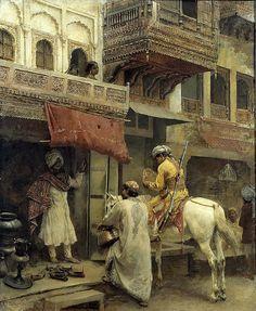 Street Scene in India by Edwin Lord Weeks