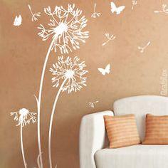Amazing Wandtattoo Wandsticker Aufkleber Pusteblume L wenzahn Blume Schmeterlinge w