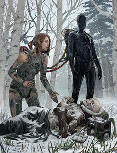 Impressive Dark Fantasy Dystopian Art By Michael MacRae