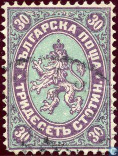 Bulgaria [BGR] - Escutcheon (Heraldische leeuw) 1882