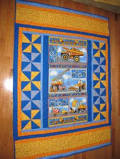 quilt border ideas | Ideas for a panel quilt and nice borders! | Quilting: inspiration
