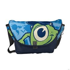 Shop Mike 3 messenger bag created by disneypixarmonsters. Personalize it with photos & text or purchase as is! Pack Your Bags, Baby Diaper Bags, Beautiful Bags, Beautiful Things, Disney Jewelry, Kids Bags, Cute Bags, Treat Bags, Travel Bag