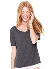cd7651a07 Bella- Ladies' Flowy Relaxed Fit Tee - 8816. Bella CanvasSlouchy ...