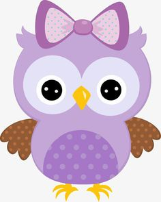 Purple Painted Cartoon Owl With Bow Owl Clip Art, Owl Art, Owl Wallpaper, Purple Owl, Purple Baby, Owl Crafts, Owl Patterns, Baby Owls, Baby Boy