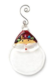 Hang a Glass Santa Christmas ornament from your tree to remind everyone who is coming soon. Of course he is wearing his red hat and a big white beard. Glass Christmas Tree Ornaments, Santa Ornaments, Santa Christmas, Santa Head, White Box, Red Hats, Holiday Decor, Big, Happy