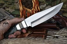 Custom Made Tool Steel Bushcraft Micarta Camp Survival Tactical Knife Survival Weapons, Survival Knife, Survival Gear, Bushcraft Knives, Tactical Knives, Edc, Pocket Knife Brands, Pocket Knives, Buck Knives