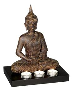 Sitting Buddha 12 34 High 3Candle Tealight Holder -- Check out this great product.