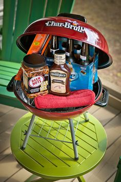 Father's Day Gift | Grill, Beer, Beer Nuts, BBQ Sauce, Tongs and Pot Holder