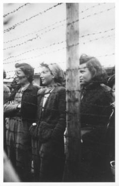 Female prisoners at Mauthausen death camp