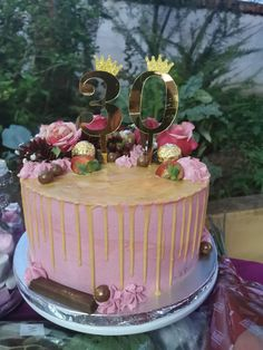 30 Birthday Cake, Desserts, Life, Food, Tailgate Desserts, Deserts, 30th Birthday Cakes, Essen, Postres