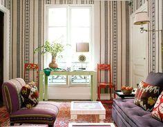 Paris guest flat, on the Left Bank, textile designer Lisa Fine design | Lonny, December-January 2010 · Miguel Flores-Vianna
