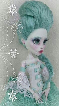Custom Art Doll Monster High Spectra Vondergiest repaint ooak by skeriosities