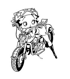 betty boop coloring pages motorcycle
