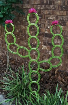 Saguaro Horseshoe Cactus Horseshoe Yard Art by LowerArkCrafts