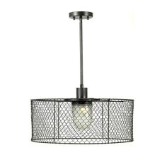 Home Decorators Collection Cozy 11 in. Bronze with Silver Pendant-0995920280 at The Home Depot