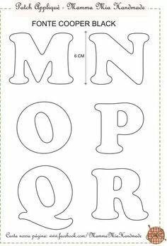 Resultado de imagem para abecedarios patchwork pinterest