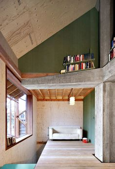 An outhouse with a bold interior.