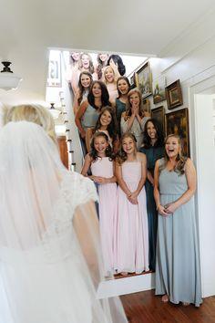 Happy bridesmaids | Lexie Bush http://southernweddings.com/2016/07/25/alabama-farm-wedding-by-lexie-bush/