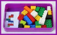 Actividades para Educación Infantil: Carteles de construcciones para LEGO