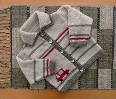 "Ravelry: sofiecat's Bathurst cardi, pattern ""Jill"" by Martin Storey Baby Boy Knitting Patterns, Baby Sweater Knitting Pattern, Knit Baby Sweaters, Knitting For Kids, Baby Patterns, Knit Patterns, Knitting Ideas, Cardigan Bebe, Baby Cardigan"