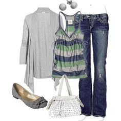 A fashion look from August 2012 featuring Splendid cardigans, Abercrombie & Fitch tops and Silver Jeans Co. jeans. Browse and shop related looks.