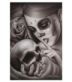 Black Market Art Company Hasta La Muerte Art Print - The Atomic Boutique